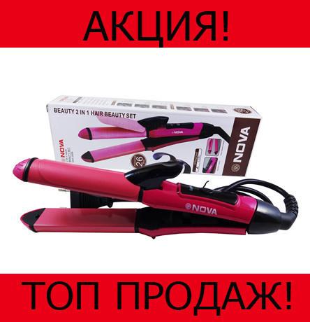 Плойка для завивки волос и выпрямления Nova 2in1!Хит цена