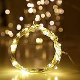 Гирлянда светодиодная Lighteer Technology Limited 10 м 100 led от сети 220 В Теплая белая (000000339), фото 5