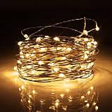 Cветодиодная гирлянда Lighteer Technology Limited 10 м 100 led от сети 220 В Теплая белая (000001188), фото 2