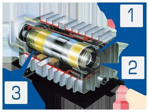 Устройство линейного двигателя поршневого воздушного миникомпрессора MEDO