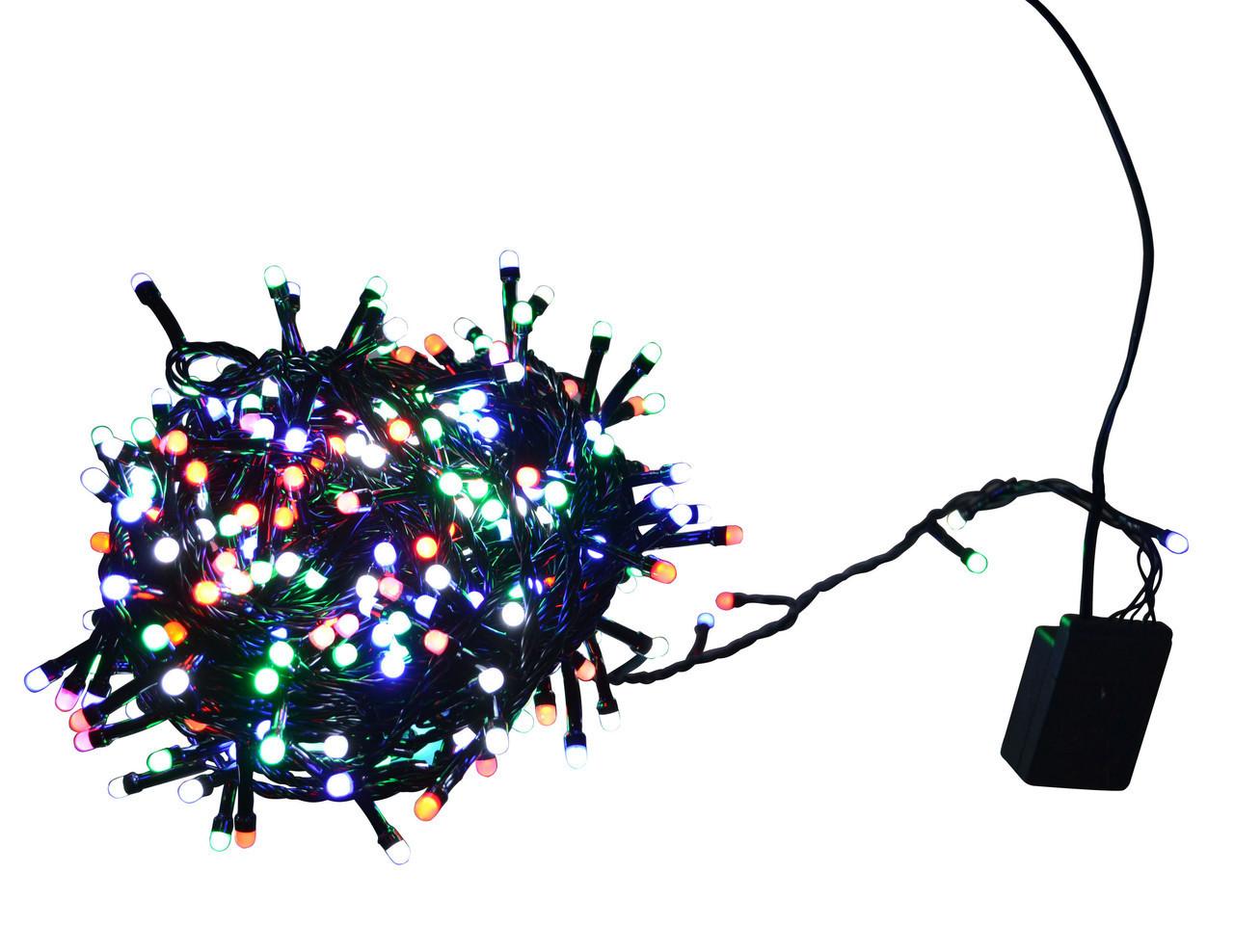 Гирлянда новогодняя светодиодная LED 400 диодов HLV мульти M4 (006436)