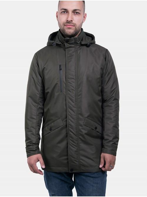 Чоловіча куртка кольору хакі