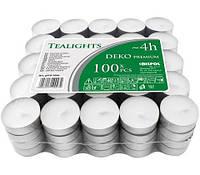 Свечи чайные Bispol Deco Premium 4 часа 100шт