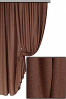 Ткань для штор Лен Олимпия  Молочный шоколад
