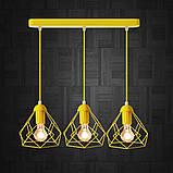 Подвесная люстра на 3-лампы RUBY-3 E27  желтый, фото 2
