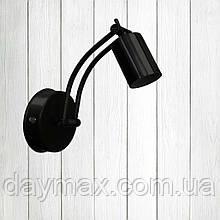Спот поворотный на 1-лампу SWIPE  E27  черный бра