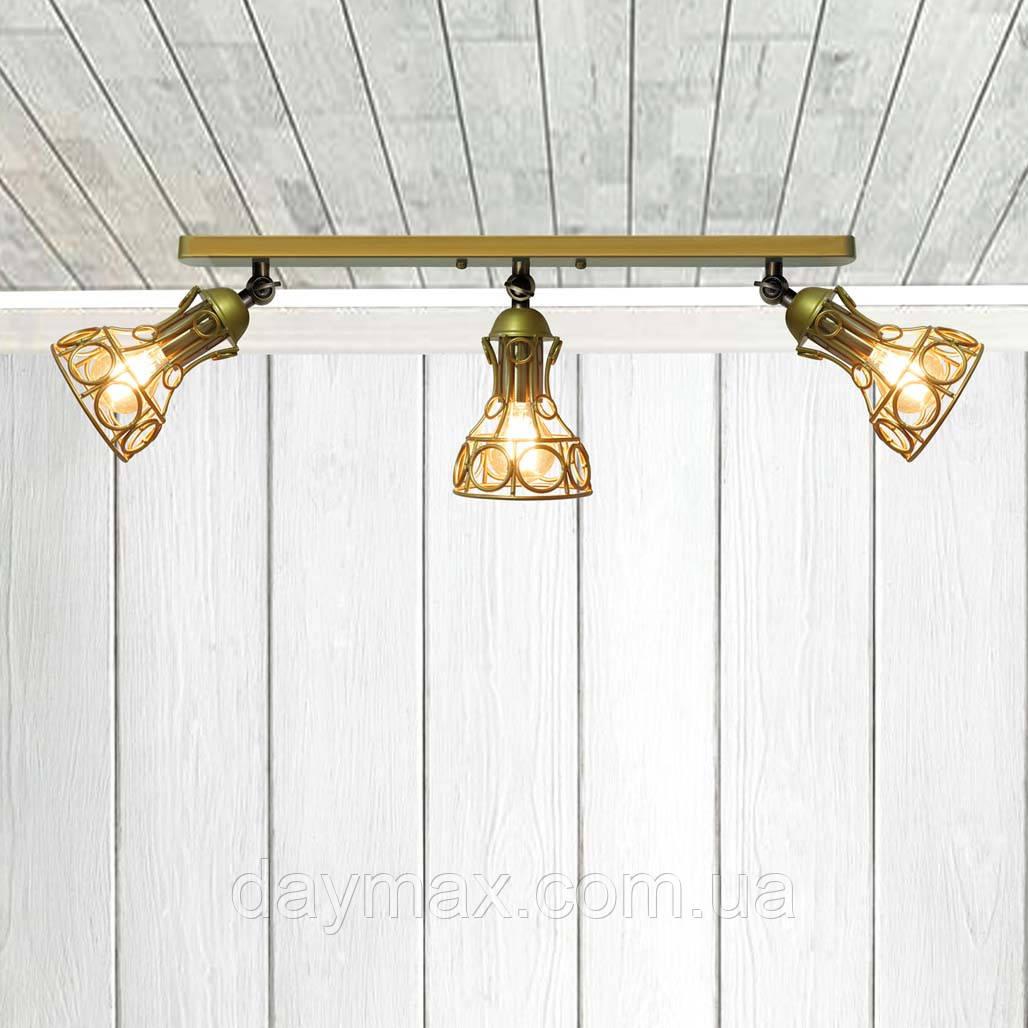 Светильник поворотный на 3-лампы RINGS/LS-3  E27 бра, золото