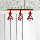 Светильник поворотный на 3-лампы RINGS/LS-3  E27 бра, красный, фото 2
