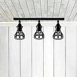 Светильник поворотный на 3-лампы RINGS/LS-3  E27 бра, черный, фото 2