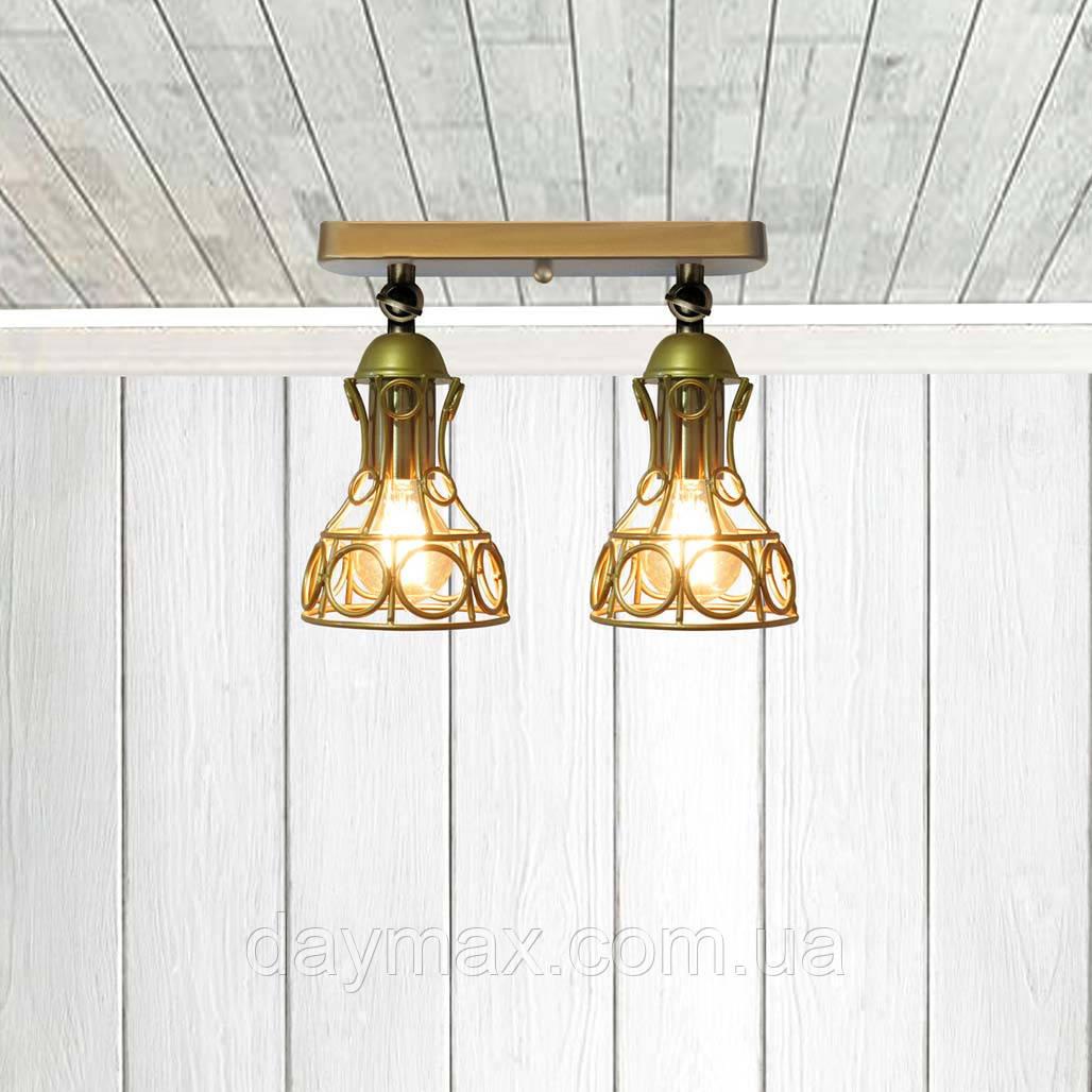 Светильник поворотный на 2-лампы RINGS/LS-2  E27 бра, золото