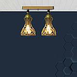 Светильник поворотный на 2-лампы RINGS/LS-2  E27 бра, золото, фото 3