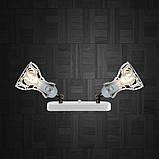 Светильник поворотный на 2-лампы RINGS/LS-2  E27 бра, белый, фото 3