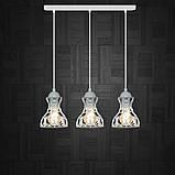 Подвесная люстра на 3-лампы RINGS-3 E27 белый, фото 2