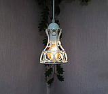 Подвесная люстра на 3-лампы RINGS-3 E27 белый, фото 3