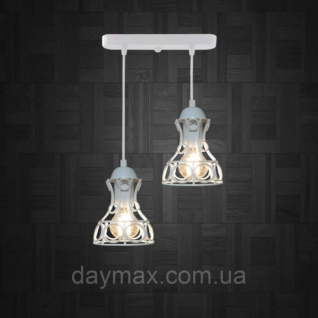 Подвесная люстра на 2-лампы RINGS-2 E27 белый