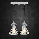 Подвесная люстра на 2-лампы RINGS-2 E27 белый, фото 2
