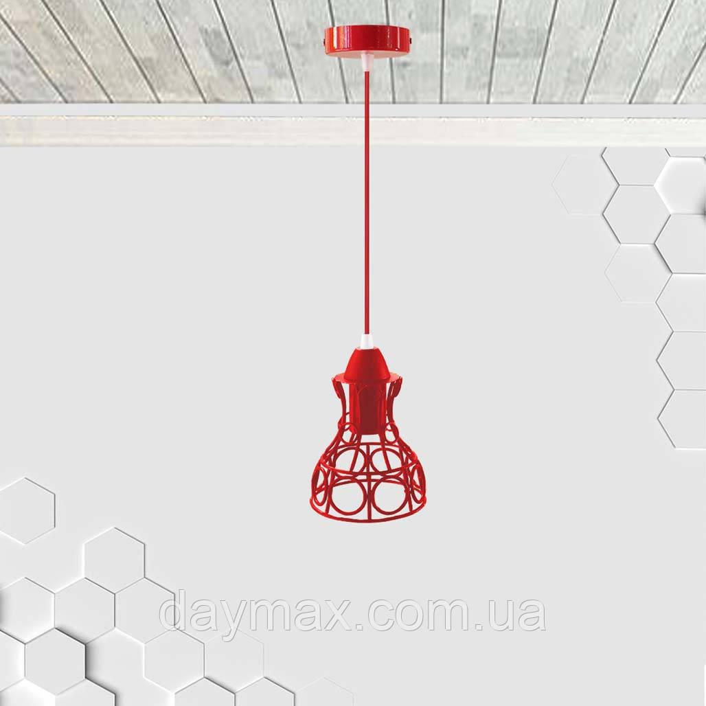 Подвесной светильник RINGS E27 красный