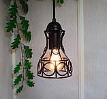 Подвесной светильник RINGS E27 чёрный, фото 2