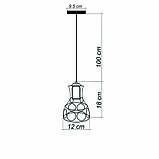 Подвесной светильник RINGS E27 чёрный, фото 7