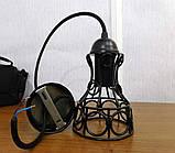 Подвесной светильник RINGS E27 чёрный, фото 8