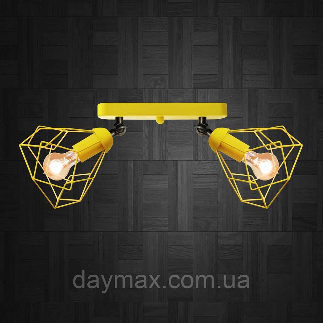 Светильник поворотный на 2-лампы RUBY/LS-2  E27 бра желтый