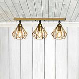Светильник поворотный на 3-лампы SKRAB/LS-3  E27 бра золото, фото 2