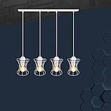 Подвесная люстра на 4-лампы SANDBOX-4 E27 белый, фото 2
