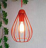 Подвесная люстра на 3-лампы FANTASY-3G E27 на круглой основе, красный, фото 3