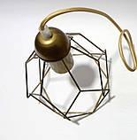 Подвесная люстра на 5-ламп RUBY-5G E27 на круглой основе, золото, фото 4