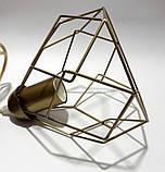 Подвесная люстра на 5-ламп RUBY-5G E27 на круглой основе, золото, фото 5