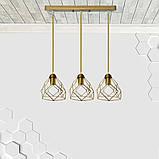 Подвесная люстра на 3-лампы RUBY-3 E27 золото, фото 2