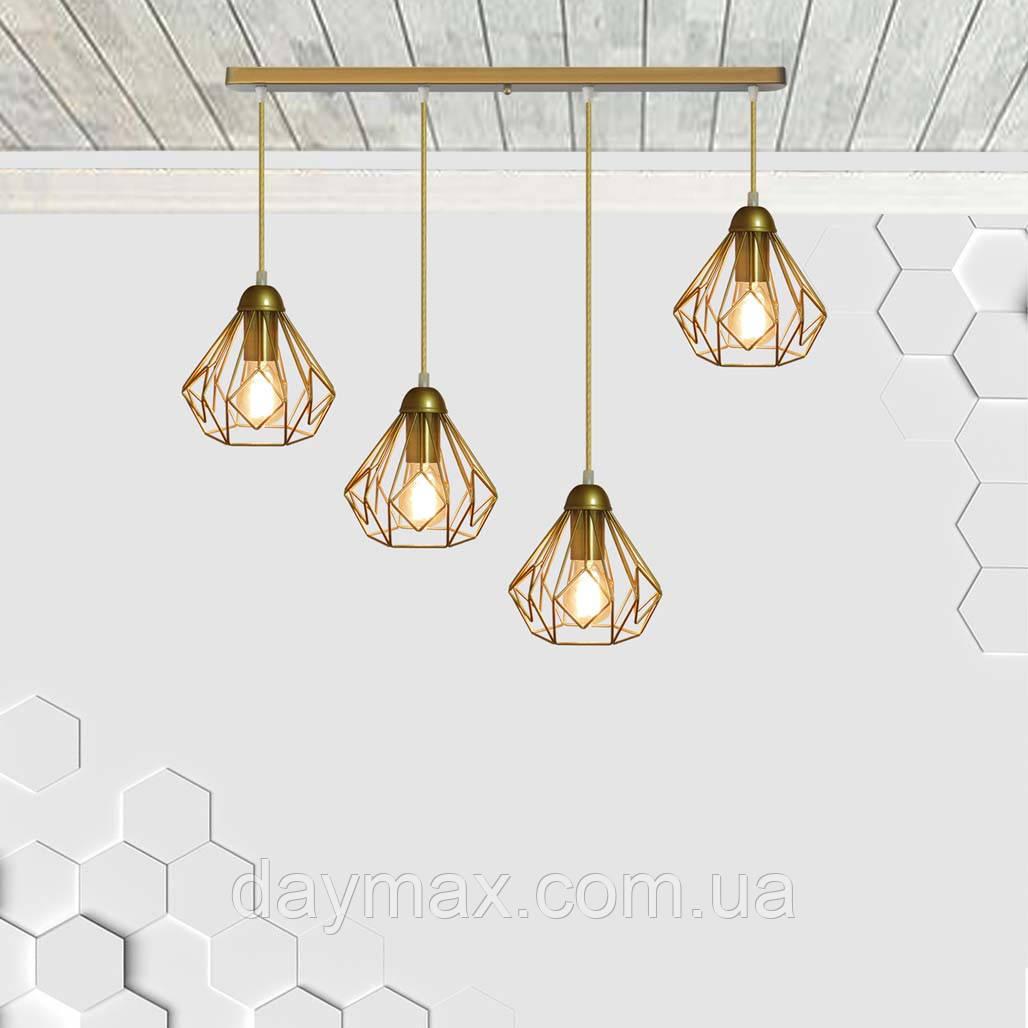 Подвесная люстра на 4-лампы SKRAB-4 E27 золото
