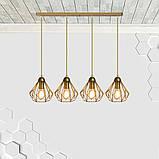 Подвесная люстра на 4-лампы SKRAB-4 E27 золото, фото 3