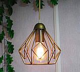 Подвесная люстра на 3-лампы SKRAB-3G E27 на круглой основе, золото, фото 3