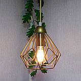 Подвесная люстра на 3-лампы SKRAB-3G E27 на круглой основе, золото, фото 5