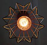 Подвесная люстра на 3-лампы SKRAB-3G E27 на круглой основе, золото, фото 8
