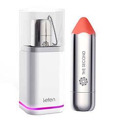 Вибропуля Leten The Second scented orange с индукционной зарядкой, водонепроницаемая, очень мощная
