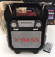 Акустический радиоприемник всеволновой стерео колонка GOLON RX-699 BT Black (V017)