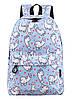 Рюкзак женский Ламы Голубой
