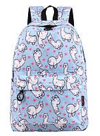 Рюкзак женский Ламы Голубой, фото 1
