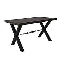 Обеденный стол в стиле лофт Тис Кабо-верде. Стол коричневого цвета, выс. 805 мм, ДСП/металл. Каркасная мебель