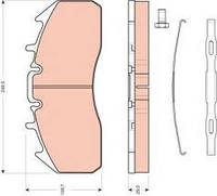 Колодки тормозные Renault DXI 29174