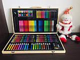 Набір для малювання 123 предмета в дерев'яному валізі дитячий Mega Art Set, фото 4