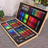 Художественный набор для рисования 220 предметов в деревянном чемоданчике детский Mega Art Set, фото 3