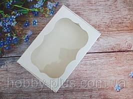 Коробка для изделий ручной работы с окном, 250х170х60 мм, белая, 1шт