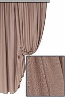Ткань для штор Лен Олимпия  Светло-коричневый с розоватым отливом