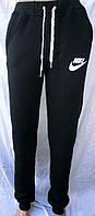 Женские спортивные штаны флис манжет чёрные