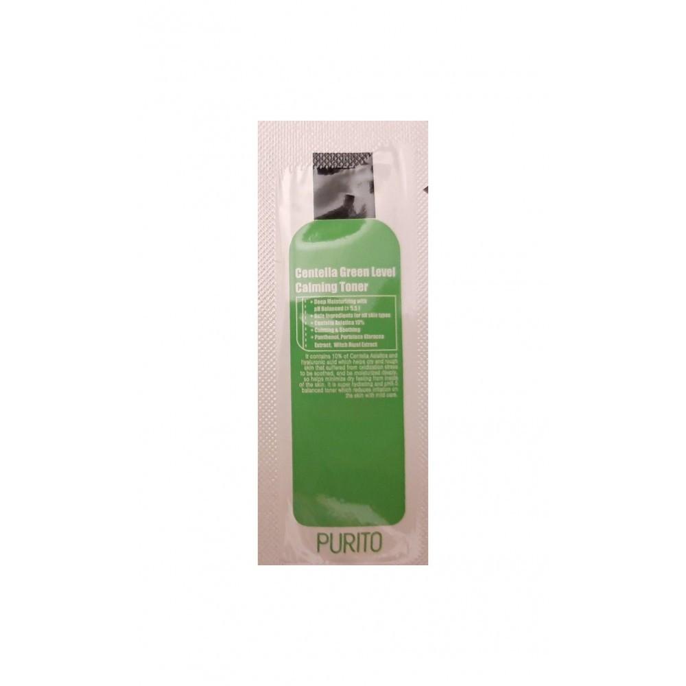 Бесспиртовый успокаивающий тонер с центеллой азиатской PURITO Centella Green Level Calming Toner (пробник)