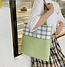 Большой тканевый набор с помпоном  3в1 Рюкзак, сумка, пенал, фото 6