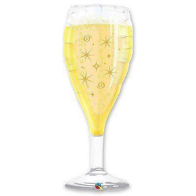 "Кулька 36"" фігура фольгована ""Келих, бокал шампанського"" УП шт."